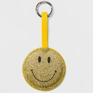 🆕WildFable Glitter Smile Face Mirror Key Chain